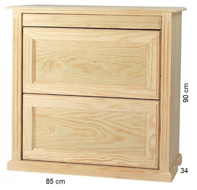 Zapatero bajo ancho for Precio zapateros de madera