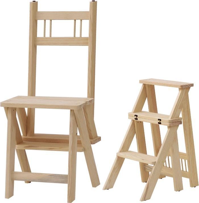 Silla escalera transformer for Silla escalera de madera