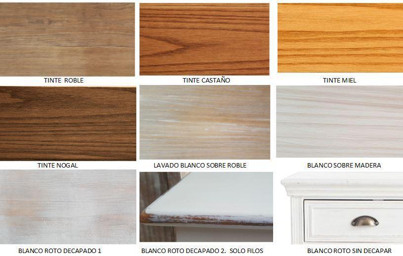 Mesa comedor provenzal - Colores maderas para muebles ...