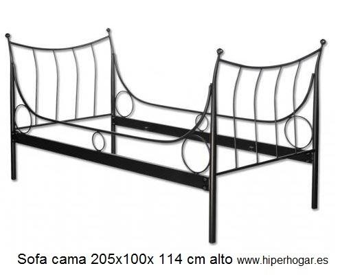 Sof cama forja for Donde venden sofa cama