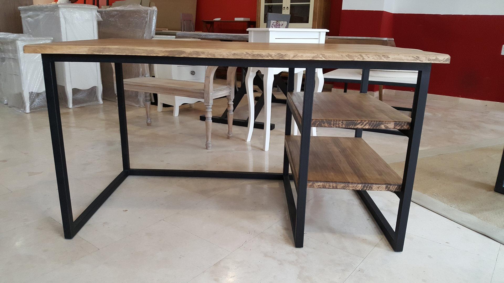Mesa escritorio industrial metropolis for Mesas de diseno industrial